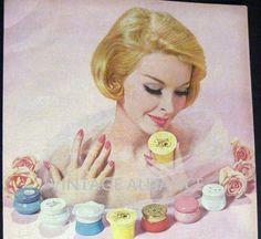 Pink Avon pretty blonde Cream Sachet Avon by VintageAllianceAds, $4.95