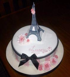 Paris Birthday Cakes, Parisian Birthday Party, Paris Themed Cakes, 12th Birthday Cake, Paris Birthday Parties, Paris Cakes, Paris Party, Birthday Cake Girls, Eiffel Tower Cake