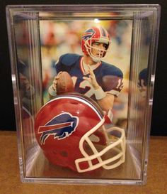 Football Cards, Baseball Cards, Jim Kelly, Nfl Buffalo Bills, Team Player, Acrylic Box, Fantasy Football, Fan Gear, Shadow Box
