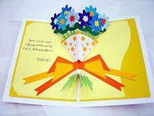 Extreme Cards and Papercrafting: Pop Up Card Tutorial Lesson 6 Pop Up Greeting Cards, Pop Up Cards, Greeting Cards Handmade, 3d Cards, Paper Cards, Cute Cards, Fancy Fold Cards, Folded Cards, Exploding Box Card
