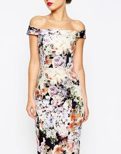 Browse online for the newest ASOS WEDDING Bardot Navy Floral Off Shoulder Pencil Dress styles. Shop easier with ASOS' multiple payments and return options (Ts&Cs apply). Asos Wedding, Moda Floral, Floral Fashion, Pencil Dress, Fashion Details, Evening Gowns, Formal Dresses, Maxi Dresses, Party Dresses