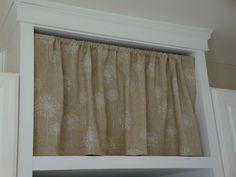 Little Mac Shack: No-Sew Cabinet Curtain