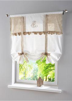 Camille   Rideau Court En Coton écru 60 X 110 Cm | Cuisine | Pinterest |  Short Curtains, Window Coverings And Sitting Rooms