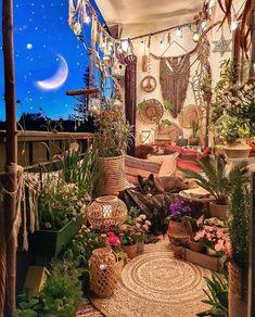 Hippie Bedroom Decor, Hippy Bedroom, Room Design Bedroom, Boho Decor, Hippie Apartment Decor, Hippie House Decor, Bohemian House, Small Balcony Decor, Balcony Ideas