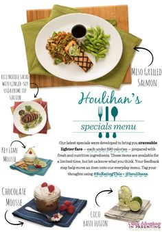 Houlihan's new low-cal menu items and enter to win a $50 Gift Card #ad #giveaway #SoEatingThis