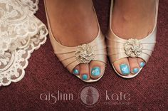 "Because I love painting my toenails in all sorts of colors of the rainbow, I think this will be my ""something blue."""