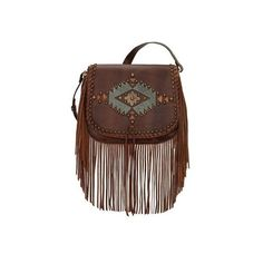 Women's American West Pueblo Moon Fringe Crossbody Flap Bag ($228) ❤ liked on Polyvore featuring bags, handbags, shoulder bags, brown, casual footwear, casual handbags, leather man bags, crossbody handbags, leather pouch and brown crossbody purse