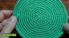Tejido en redondo o Trabajo en círculo en crochet. Cómo tejer círculo a ...