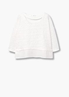Getextureerd katoenen sweatshirt