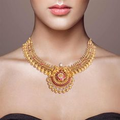 Fulfill a Wedding Tradition with Estate Bridal Jewelry Gold Bangles Design, Gold Earrings Designs, Necklace Designs, Jewellery Designs, Gold Jewelry Simple, Gold Jewellery, Antique Jewellery, Gold Necklace, Peacock Necklace