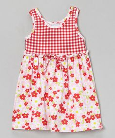 Take a look at this Pink & Red Country Floral Swing Dress - Infant, Toddler & Girls by Flap Happy on #zulily today!