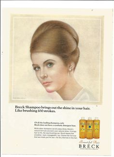 breck girl | 1967 Advertisement Breck Girl Shampoo 60s Hair Brunette Portrait Ralph ... Retro Ads, Vintage Ads, Vintage Stuff, Vintage Hairstyles, Cool Hairstyles, Breck Shampoo, 60s Hair, Good Hair Day, Brunette Hair