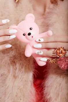 Post Contains: Valley of the Dolls Pill Popping Nails Beauty Shoot, pill popping, prescription drugs, pills, pill shaped nails, nail art, pill manicure, heart manicure, heart nails, pink bear, gian...