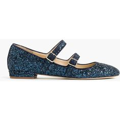J.Crew Women's Mary Jane Mavis Ballet Glit (7.875 RUB) ❤ liked on Polyvore featuring shoes, flats, glitter flat shoes, navy blue flats, mary-jane shoes, navy flat shoes and navy mary janes