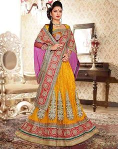 Glam Luxe Lehenga Set yellowmultiAviv101