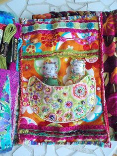 Fabric book...put worry dolls into a pocket