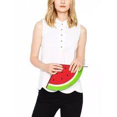 """Kate Spade NY """"Make a Splash Watermelon"""" NWT Colorful Leather Clutch Pursel $178 #KateSpade #Clutch"""