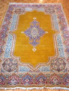 Persian Carpet - Wool Oriental Carpet - Persian Rug - Authentic Hand Knotted. $675.00, via Etsy.