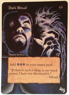 MTG Altered Art Dark Ritual Tempest Hand Painted Full Art OOAK Magic Card #WizardsoftheCoast Cool~