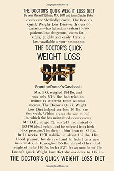 The Doctor's Quick Weight Loss Diet