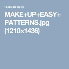 MAKE+UP+EASY+PATTERNS.jpg (1210×1436)