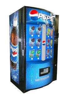 Lego Custom Downtown Street Scene Blue Bricks Pepsi Cola Soda Vending Machine