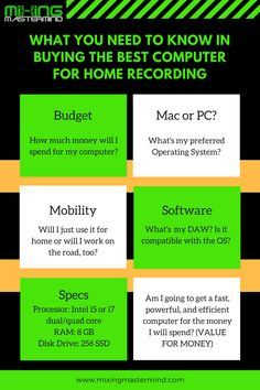 What You Need To Know in Buying the Best Computer for Home Recording