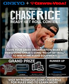Greek Life! Check out this contest with Chase Rice! So cool! Spend your weekend making an awesome video!