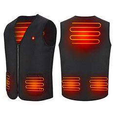 USB Heated Vest, Electric Heated Jacket Clothes Body Warmer Heating Pad for Men and Women Outdoor Hiking, Hunting, Motorcycle, Camping Powered by Rechargeable Power Bank Battery(No Battery) (XL) Heated Jacket, Man Pad, Hiking Jacket, Body Warmer, Men Hiking, Winter Warmers, Warm Outfits, Outdoor Woman, Skin So Soft