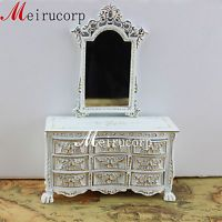 FINE 1/12 SCALE MINIATURE FURNITURE HANDCRAFTED GRAND VANITY MIRROR&TABLE