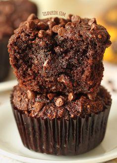 dairy-free, gluten-free, grain-free chocolate banana muffin