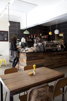 melbourne cafes photo blog. love all the natural wood elements!