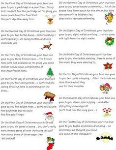 12 days of Christmas idea:
