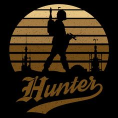 Horror Sun Set Hunter #boba #fett #bobafett #bounty #hunter #bountyhunter #starwars #apparel #tee
