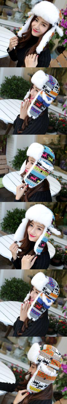 Winter Hats For Women Bomber Hat Fur With Ears Cap Warm Cap Russian Gorras Chapeu Snow Caps Earflap Woman Winter Hat