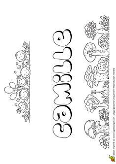 A colorier, le doux prénom de Camille écrit en version Chewing-gum