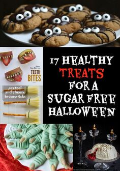 Want to avoid the Halloween sugar rush? Throw your own sugar free Halloween party and crowd out the junk with these healthy sweets and savoury treats.