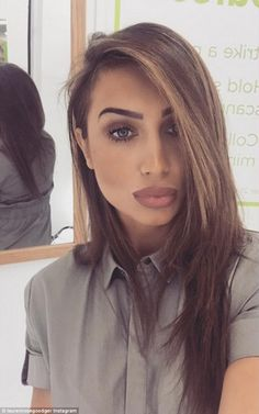 Pout it out: Lauren Goodger's Instagram post on Wednesday got fans wondering if she had done something to her lips, although she later revealed it was all down to clever make-up application