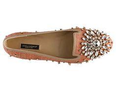 Dolce & Gabbana Woven Jewel Flat | DSW
