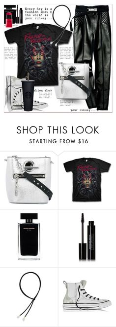 """Say What : Statement T-Shirt"" by dragananovcic ❤ liked on Polyvore featuring Alexander Wang, Narciso Rodriguez, Edward Bess, mizuki and Converse"