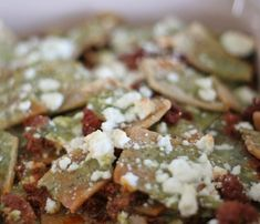 Green chilaquiles to go with the red - for xmas morning