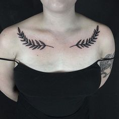 "hiddenmoontattoo: ""Olive branches by our guest artist @lonewolftattoo"""