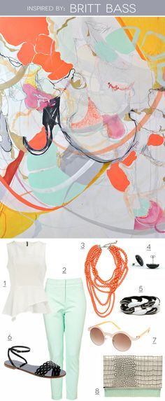 Artistic Apparel: art and fashion matching by Maggie Ryan of Very Pretty, Please | Design For Mankind