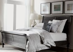 A Traditional Chic Bedroom Styled In Light Gray Tones Ethlen Ethlenbellevue