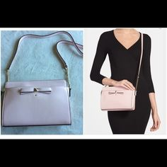 """NWT Kate spade beacon court Angelica Brand new. 6.4""""h X 9.4""""w X 2.5"""" d. Total strap length: 49.2"""" material: patent leather, 14 karat light gold plated hardware. I'm open to reasonable offers. kate spade Bags Crossbody Bags"""
