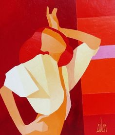 Original acrylic on canvas painting by Stephane Bulan - Paris Art Web Abstract Example, Art Web, Paris Art, Feminist Art, Seascape Paintings, Gravure, Figure Painting, Online Art Gallery, Pop Art