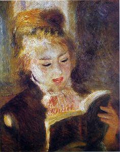 Mujer leyendo. Pierre-Auguste Renoir
