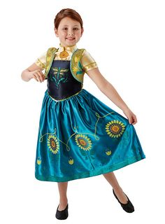 Die Eiskönigin Kinderkostüm Anna Blumenkleid ♥ maskworld.com #frozen #anna #karneval
