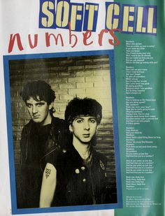soft cell, numbers, 1983