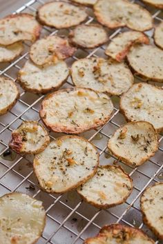 A Less Processed Life: What's On the Side: Oven-Baked Potato Crisps